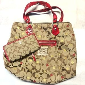 Coach Poppy purse with Wallet